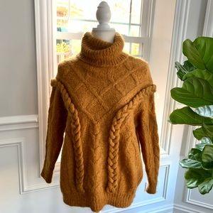 Zara ❤️ Cable Knit Turtleneck Sweater ❤️ Size S